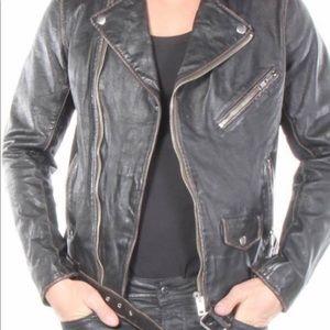 Like new Diesel leather biker jacket